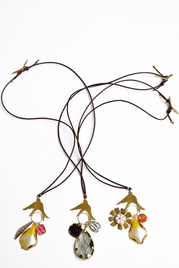 Birds Holding Travel Souvenirs, Alight Collection Necklaces. View at allysonmellone.com